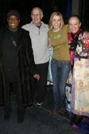 Past Gypsy Robe Winners Pi Douglass, Bill Nabel and James Dybas with Jenn Colella