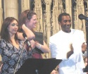 Natascia Diaz (Aphra), Kate Shindle (Yonah) and Norm Lewis (Father)  Photo
