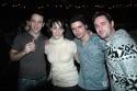 Zach Hensler, Eden Espinosa, Robb Sapp, and Max von Essen