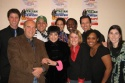 Steve Solomon, Liza Minnelli and the staff of the Little Shubert Theatre