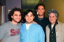 "Jeff Marx, Robert Lopez, Zachary Levi (ABC's ""Less Than Perfect"") and Gina Aglietti (Stella Adler Studio of Acting)"