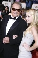 Jack Nicholson and daughter Lorraine Nicholson Photo