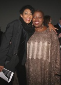 Paula Kelly and Lillias White share a moment at the party