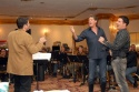 Conductor Keith Thompson, David Hasselhoff and Rich Affannato