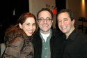 Andrea Burns (In the Heights), Adam Heller (Rags) and Musical Director Michael Lavine Photo