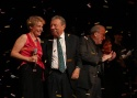 Cy Coleman and Liz Callaway share a brief moment on stage