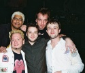 The Band - Bottom Left, David Nehls (Keyboard and Musical Director), Top Left, David Matos (Guitar), Euan, Top Right, Oliver Hofer (Bass) and Bottom Right, Chris Jago (Drums)