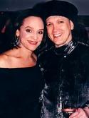 Valerie Harper and Charles Busch strike a pose. Photo