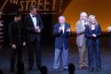 Rich Affannato, David Hasselhoff, Mel Brooks, Thomas Meehan and Susan Stroman at curtain call