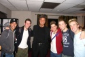 Jay Garcia (Juan), Nick Blaemire (Abraham), Shadoe Stevens (the Voice of G.O.D.), Jesse JP Johnson (Luke), Matthew Buckner (Matthew), and Ryan J. Ratliff (Mark) backstage at the LA opening of Altar Boyz