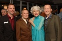 Jerry Herman and Carol Channing flanked by David Brinkman (Exec. Director, DAP) and Kevin Taylor (Director of Resource Development)