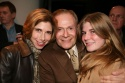 Jerry Herman flanked by his goddaughter Jane Dorian and her daughter Sarah Haspel Photo