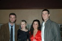 Brothers Liev Schreiber and Pablo Schreiber with their respective girlfriends, Naomi Watts and Jessica Monty