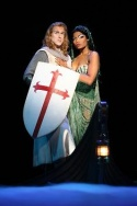 Anthony Holds and Pia Glenn as Sir Galahad and Lady of the Lake Photo