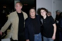 "Director Paul Mazursky (Center) with ""The Catskill Sonata"" actors Elya Baskin (L) & Daryl Sabara (R)"