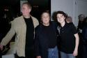 "Director Paul Mazursky (Center) with ""The Catskill Sonata"" actors Elya Baskin (L) & Daryl Sabara (R)"