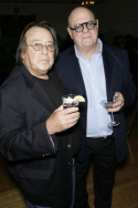 "Director Paul Mazursky (L) with ""The Catskill Sonata"" writer Michael Elias (R)"