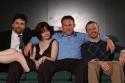 (L to R) Phil Gallagher, Rebecca Ellis, Mike Nichols, and Tony Viglione