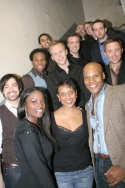 The Broadway Boys with director Schele Williams, Brandi Chavonne Massey and musicians Photo