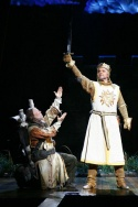 "John O'Hurley and Justin Brill in the Las Vegas cast of ""Spamalot"""