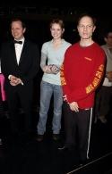 Choreographer Rob Ashford, Jill Paice and David Hyde Pierce