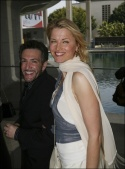 Eric Vetro and Lucy Lawless