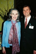 Marian Seldes and Michael Adams (S.A.G.E. Exec. Director)