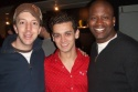 Brian Golub (Naked Boys Singing), Michael Longoria (Jersey Boys) and Titus Burgess (Jersey Boys, upcoming Little Mermaid)