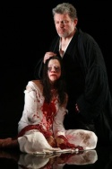 Colleen Delany as Lavinia and Sam Tsoutsouvas as Titus