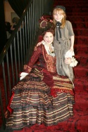 The Phantom of the Opera's Anne Runolfsson with daughter Tess Adams, who is one of the actresses playing Young Cosette in Les Miserables