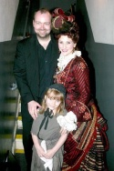 Ray Fellman with Tess Adams of Les Miserables, and her mother, The Phantom of the Opera'sAnne Runolfsson