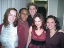 Julia Murney, Keith Byron Kirk, Matthew Morrison, Georgia Stitt and Jen Bender backstage at Birdland!