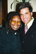 Whoopi and Dale Badway, producer of the Broadway Wall of Fame, Production Coordinator Photo