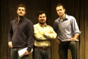 Playwright Paul Grellong (left), director Peter Sampieri (center) and Gamm Artistic D Photo