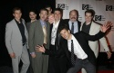 Hugh Dancy with Journey's End ensemble cast, including: Boyd Gaines, Stark Sands, John Ahlin, Nick Berg Barnes, John Behlmann, Justin Blanchard, Kieran Campion, John Curless and Richard Poe