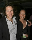 Simon Templeman and Rosalind Chao