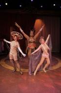Kathryn Kendall as Electra, Inga Ballard as Mazeppa and Ann-Ngaire Martin as Tessie T Photo