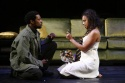 Kenajuan Bentley as Laertes and Michelle Beck as Ophelia