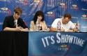 Ashley Parker Angel, Bebe Neuwirth and Brad Blanks