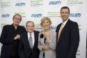 David Michaels, Jerry Herman, Karen Morrow and Keith McNutt on the red carpet