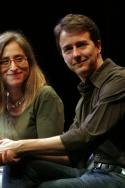 Erika Mallin, Executive Director of Signature Theatre Company, and Edward Norton Photo