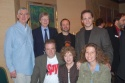 Former Kleban Award Winners: front:  David Spencer, Alison Hubbard, Felicia Needleman; back L-R: Charles Leipart, Patrick Cook, Steven Lutvak and Laurence Holzman