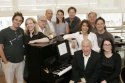 (Standing) Roger Bart, Susan Stroman, Thomas Meehan, Robert Sillerman, Sutton Foster, Photo