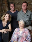 (Clockwise) Cady Huffman, James Colby, Larry Bryggman and  Lois Smith