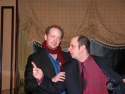 Jamie instructing musical director James Sampliner to.... well, we're not quite sure  Photo