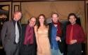 Team Benanti: boyfriend Chris Barron, James, Laura, Jamie, and bass player Tim Givens Photo