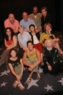 Cast Photo: A) Top row: Erick Devine, Thom Christopher, Don Mayo and Lee Rosen; B) Second row: Talia Barzilay, Teri Ralston, Angel Desai and Laura Kenyon, C) seated on floor: Deone Zanotto, Nicholas Rodriguez and Nancy McCall