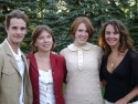 Mark H. Dold, BSC Artistic Director Julianne Boyd, Emily Boyd (Black Comedy Assistant Director) and Ginifer King