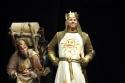 Andrew Spillett as Patsy and Peter Davison as King Arthur