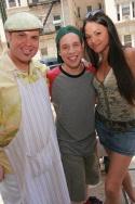 Eliseo Roman, Robin de Jesus and Karen Olivo Photo